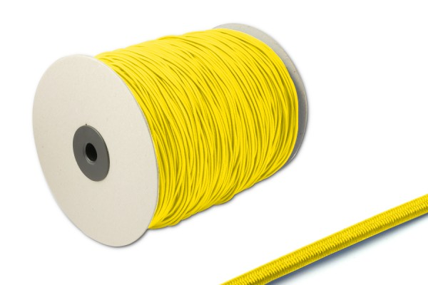 Elastics on spool 500 m, yellow
