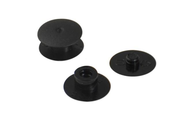 Briefknöpfe schwarz