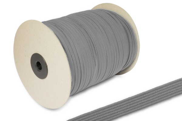 Flat Elastics on spool 500m, grey