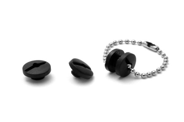 Kollektions-Buchschrauben Kunststoff schwarz