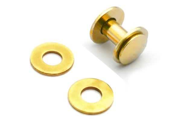 Unterlegscheiben für Buchschrauben gold vermessingt