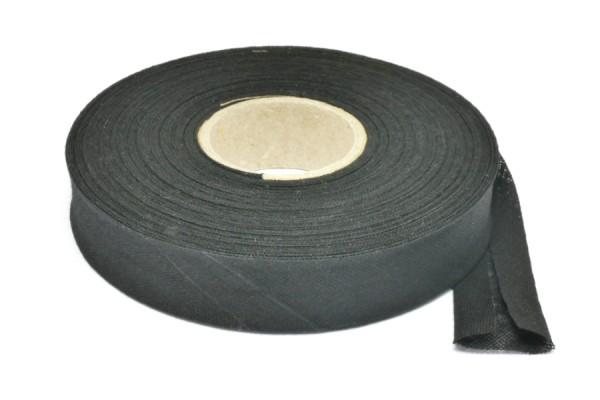 Bias binding tape, 20 m on a spool, black