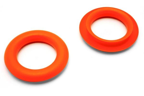 Greiflochringe, aus Kunststoff, orange
