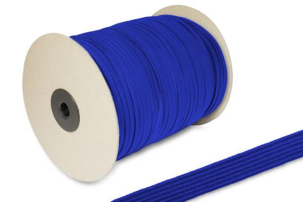 Flachgummi, auf 500 m Rolle, blau