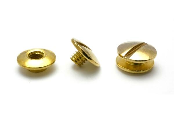 Buchschrauben gold vermessingt