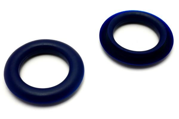 Finger ring eyelets, made of plastic, darkblue