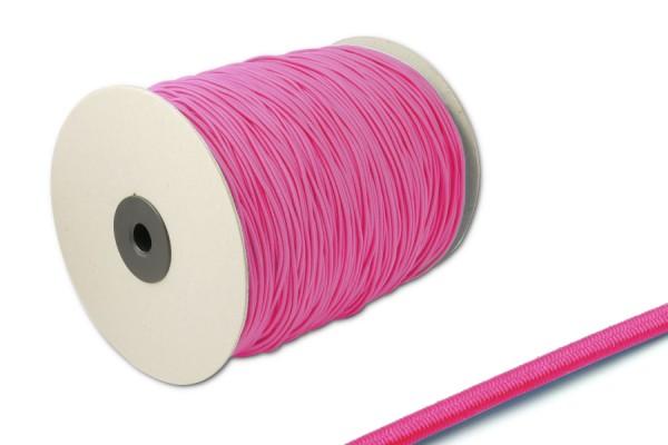 Gummischnüre, auf 500 m Rolle, pink