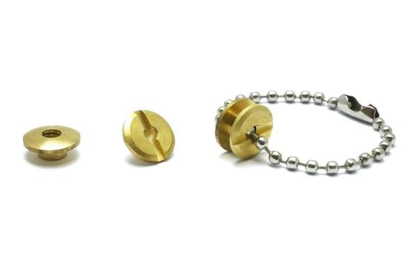 Kollektions-Buchschrauben gold vermessingt