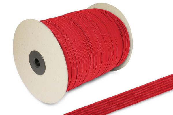 Flachgummi, auf 500 m Rolle, rot