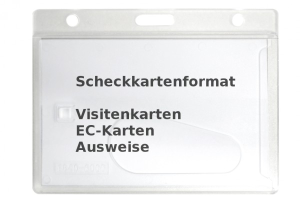 Card holder from rigid plastic, frosted transparent