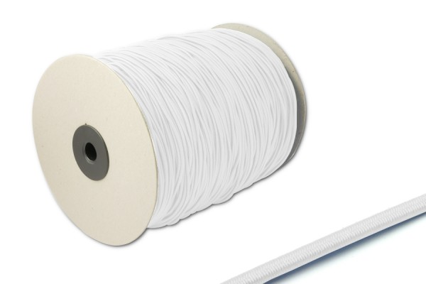Elastics on spool 500 m, white