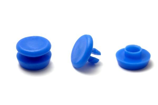 Kunststoff-Nieten blau