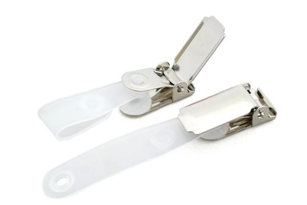 ID Clip with pressure stud, plastic flap