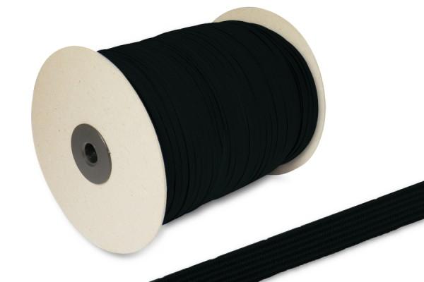 Flat Elastics on spool 500m, black