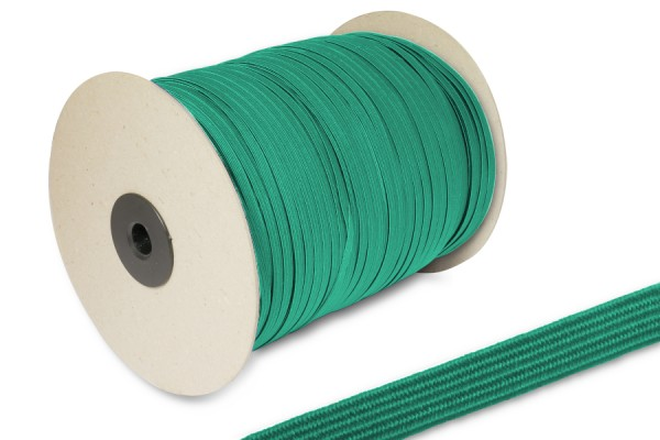 Flat Elastics on spool 500m, dark green