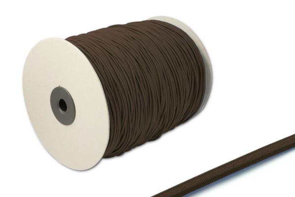 Elastics on spool 500 m, brown