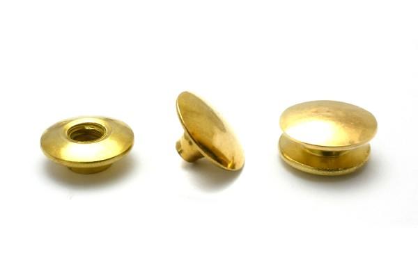 Buchschrauben Einpresskopf gold vermessingt