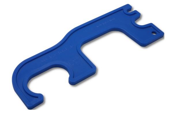Hygienegriff, blau 158 mm Gesamtlänge