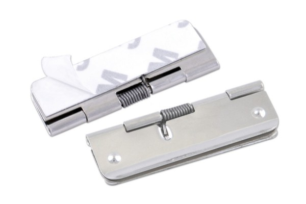 Note clips, 50 mm width, self-adhesive, nickel plated