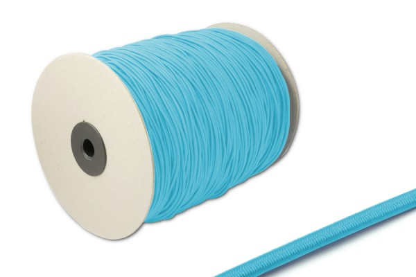 Elastics on spool 500 m, light blue