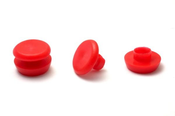 Kunststoff-Nieten rot